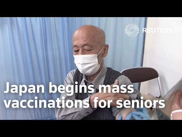 Japan begins mass vaccinations for seniors