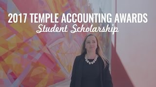 Fox School of Business Accounting Achievement Awards 2017: Student Scholarship