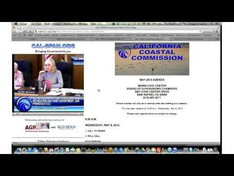 California Coastal Commission mtg may 9th afternoon