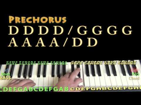 Today (Brad Paisley) Piano Lesson Chord Chart