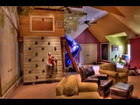 Game room decorating ideas for kids - YouTube