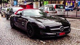 3X Mercedes SLS ///AMG Sound !
