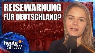 Hazel Brugger in Dresden: Wie gefährlich ist es in Deutschland? | heute-show vom 28.09.2018