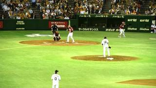 G杉内 vs E中島 全6球 ① ストレート 138km/h ファウル ② チェンジア...