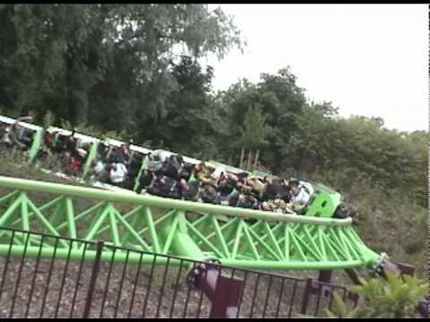 Goliath Roller Coaster Front Seat POV Walibi World