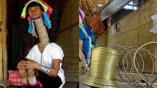 實拍泰國長頸族女人:銅環一生只能摘下三次,取後的情景讓人落淚