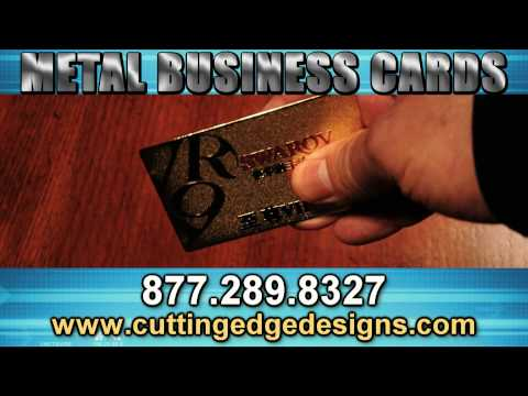 Metal Business Cards: Custom Silver or Gold Metal Cards with Design & Printing.