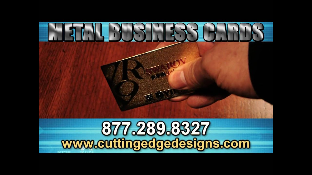 Metal Business Cards: Custom Silver or Gold Metal Cards with ...