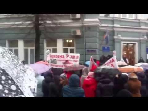 Кондитерская фабрика Житомирские Ласощи ЖЛ митингует в Житомире