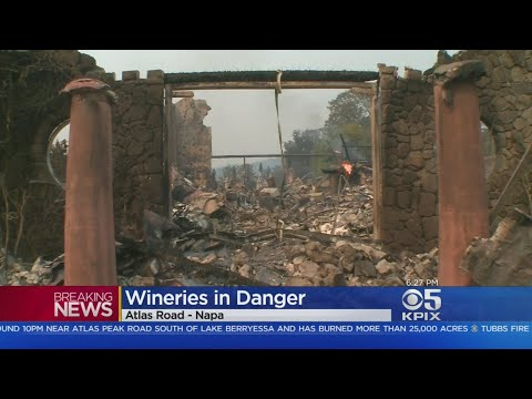 Some Wineries Damaged By Atlas Fire In Napa Valley