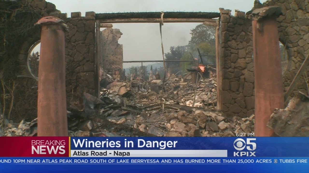 Some Wineries Damaged By Atlas Fire In Napa Valley - YouTube