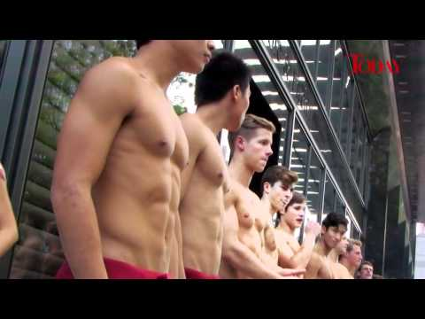 Abercrombie and Fitch 'Topless Greeters' on Orchard Road