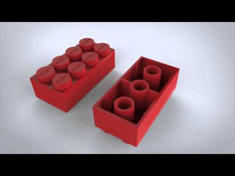 Lego 3-d model Animation