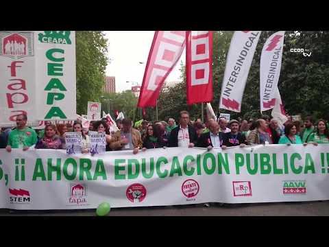Cientos de personas piden en Madrid la reversión de los recortes y el fin de la Lomce