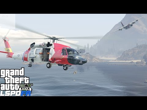 GTA 5 LSPDFR USCG Coastal Callouts | Training Turns Into A Real Rescue | United States Coast Guard