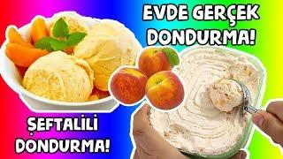 Evde Gerçek Dondurma Challenge Kendin Yap Kolay Şeftalili Dondurma Nasıl Yapılır?  Bidünya Oyuncak🦄