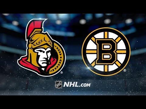 Ottawa Senators Vs. Boston Bruins | NHL Game Recap | March 21, 2017