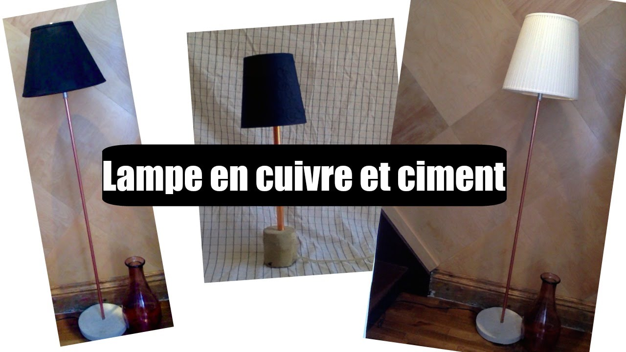 lampe en cuivre et ciment youtube. Black Bedroom Furniture Sets. Home Design Ideas