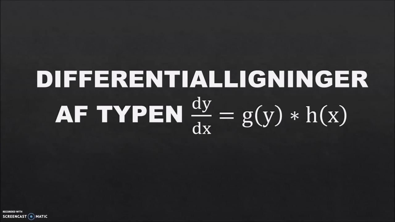 Aflevering 18 - Differentialligninger