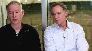 """World of Tennis Bonus Clip """"Holding Court with Justin"""" featuring McEnroe Brothers 