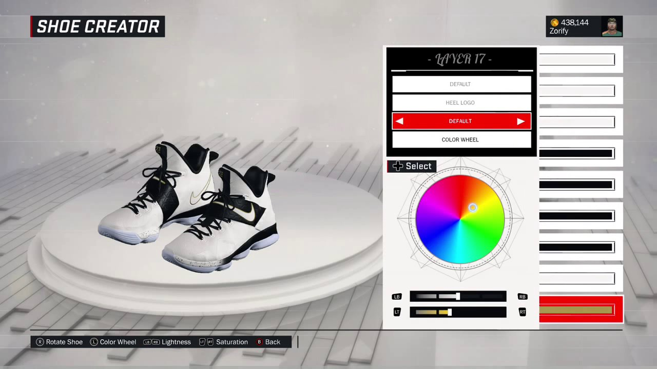 separation shoes 3f943 888b6 NBA 2K17 Shoe Creator - Nike LeBron 14
