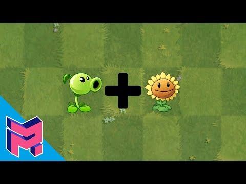 Plants vs Zombies Fusion Hack Animation (Peashooter + SunFlower)