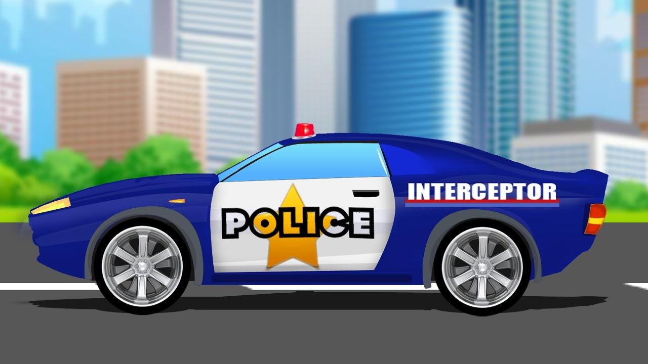police car chase and stunts car videos for kids