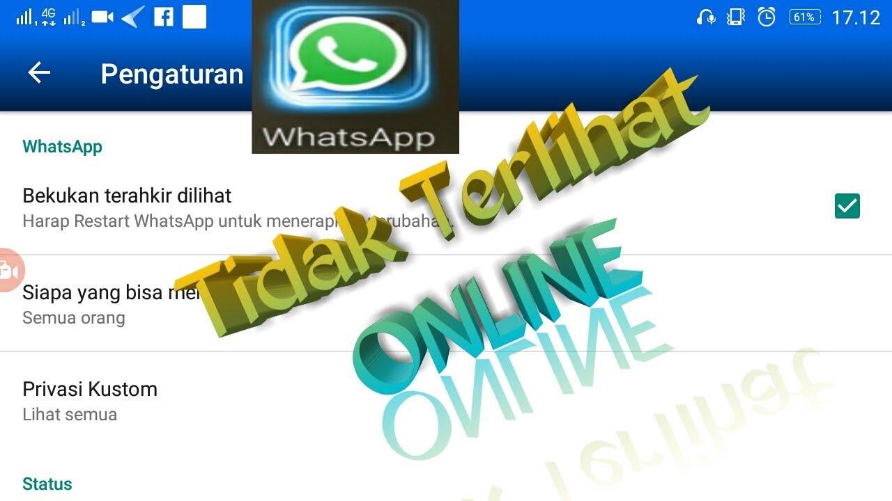 agar whatsapp tidak terlihat online