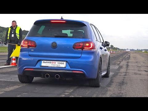 Volkswagen Golf 6 R 3.6 HGP Biturbo ACCELERATIONS SOUNDS!