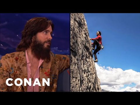 Jared Leto Is A Serious Rock Climber  - CONAN on TBS