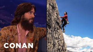 jared leto is a serious rock climber   conan on tbs
