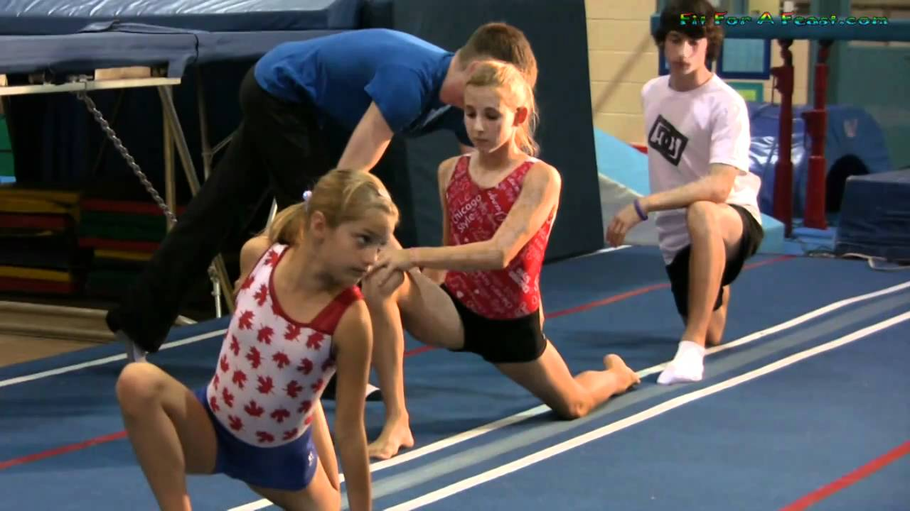 preteen stretch Stretching Warmup Exercise for Gymnastics, Dance, Cheerleading, Trampoline and Flexible Fitness