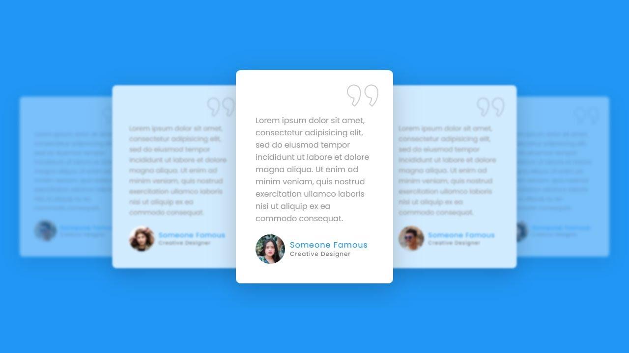 Responsive Client Testimonial Section using HTML, CSS & Swiper.js