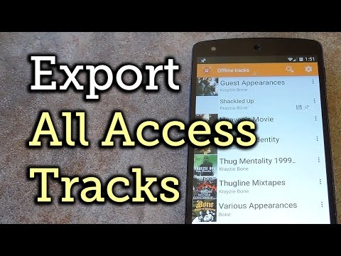 Download Songs from Google Play Music All Access for Offline Playback - Android [How-To]