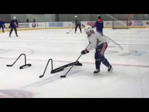 Tavares pre game skate with PEP
