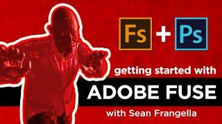 Adobe Fusible CC Tutoriel - Créer des personnages en 3D, de les amener dans Photoshop CC 2015