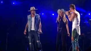 """Florida Georgia Line and Bebe Rexha sing """"Meant to Be"""" live at CMA Fest Video"""