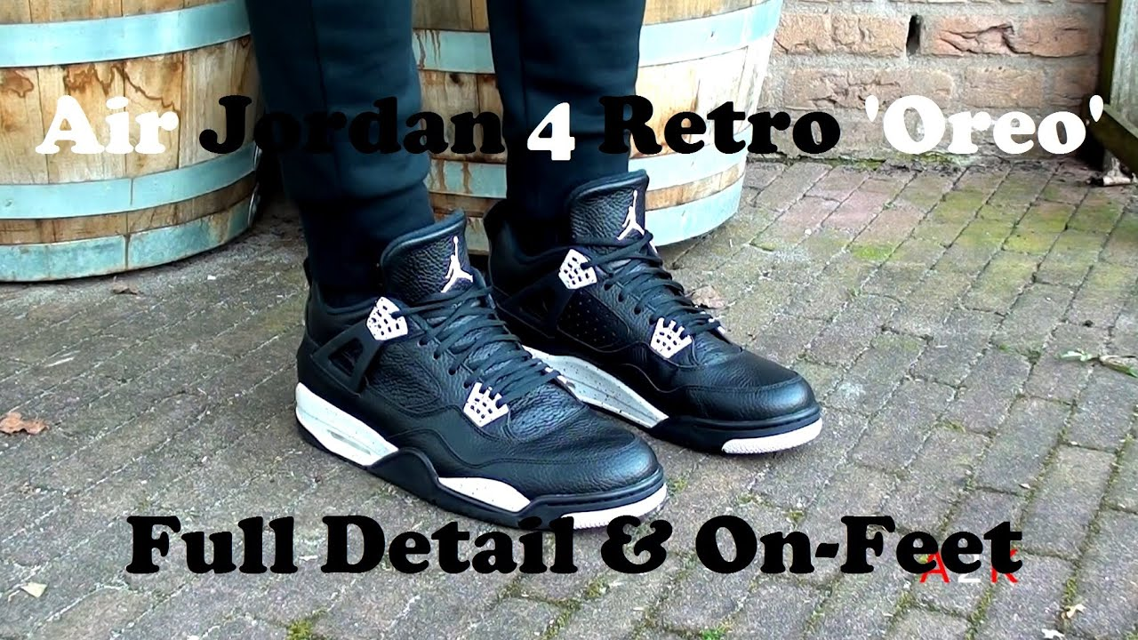 best service c9dd8 0d76c 2015 Air Jordan 4 Retro  Oreo  In Full Detail   ON-FEET!