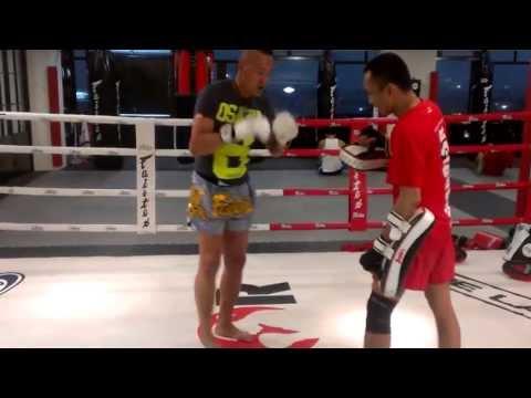 Ken Low Wai Kwong Age 56 Training at Warrior Muay Thai