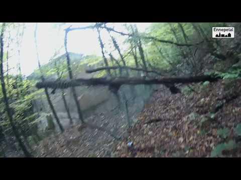Ennepetal an der Kehr alter Wald Fussweg Richtung Stockey&Schmitz 13.10.2017