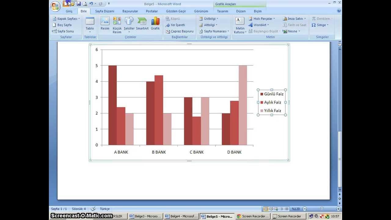 038 - Microsoft Word 2010  Ekle Sekmesi   U00c7izimler Grubu   U015eekil Ekleme  Grafik Olu U015fturma