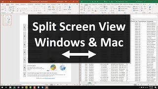Working with Multiple Windows in Split View - Tips for Windows & Mac