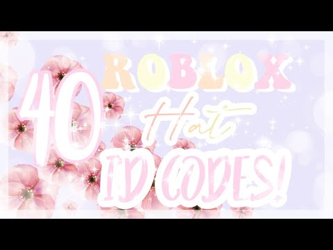 40 Aesthetic Hat Id Codes Roblox Oceannixx Youtube