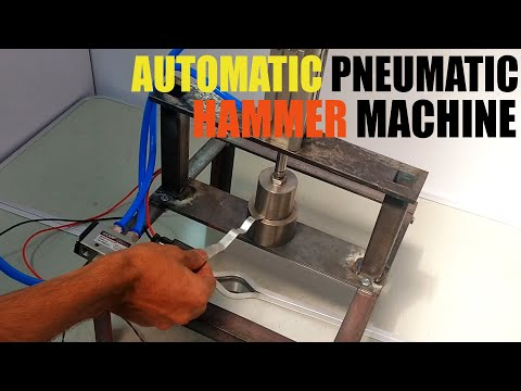 Making DIY Automatic Pneumatic Hammer Machine | NevonProjects Mechanical