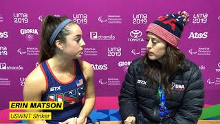 2019 Pan American Games: Bronze USWNT vs. Chile Post-Game Interviews
