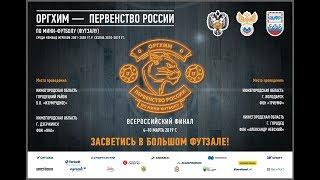 «СШ по футболу»  - «Норман». Оргхим - Первенство России по мини-футболу среди юношей 2001 г.р.