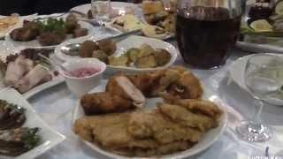 Украина  Свадебный рушник  Блюда праздничного стола