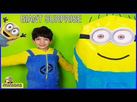 Thumbnail: GIANT EGG SURPRISE MINION Toys from Despicable Me Fun Kids Video