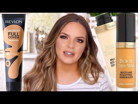 LETS TRY THESE OUT... NEW TOO FACED CONCEALER AND REVLON FOUNDATION WEAR TEST