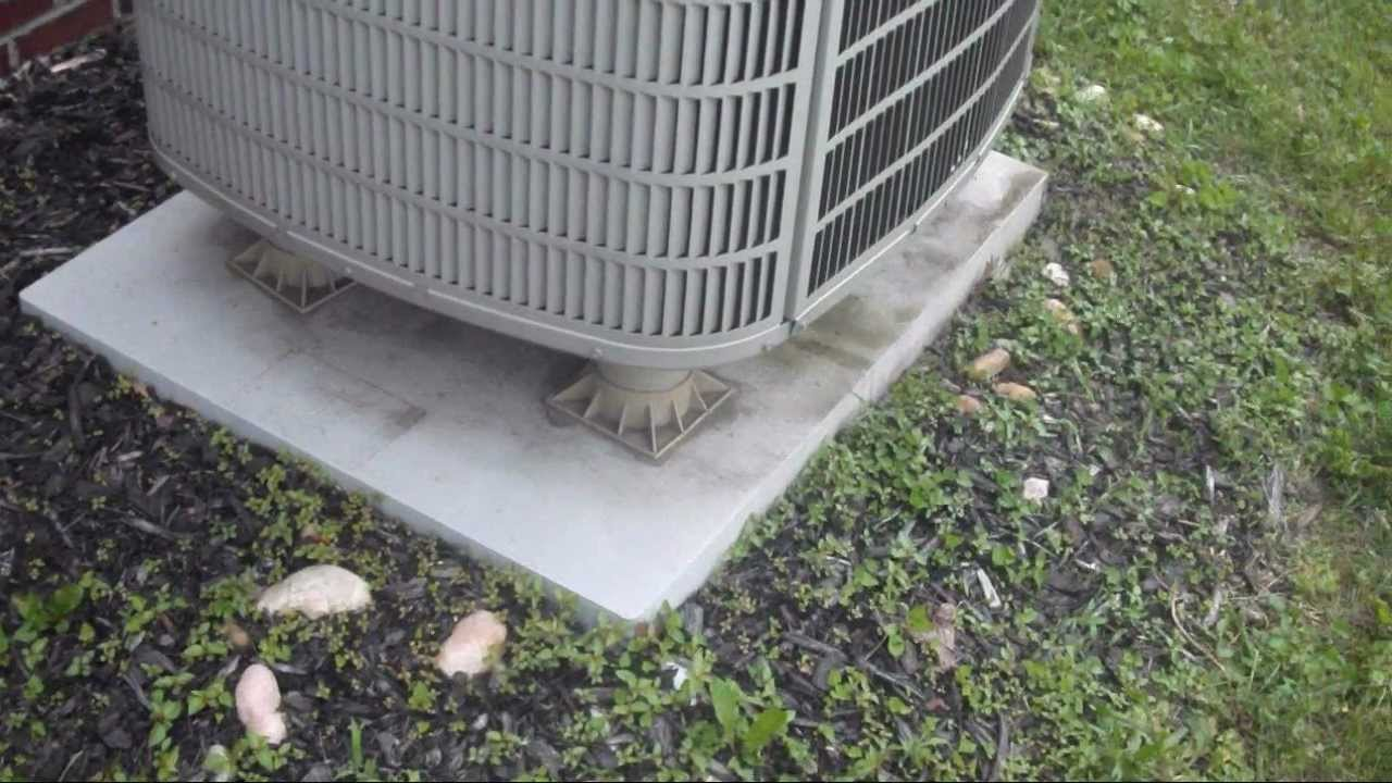 A perfectly installed 2006 bryant evolution system two for Ac condenser pad installation